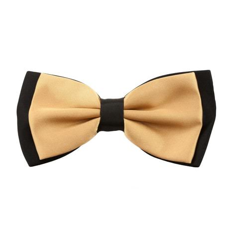 Fliege Schleife Hochzeit Anzug Smoking - schwarz-champagner