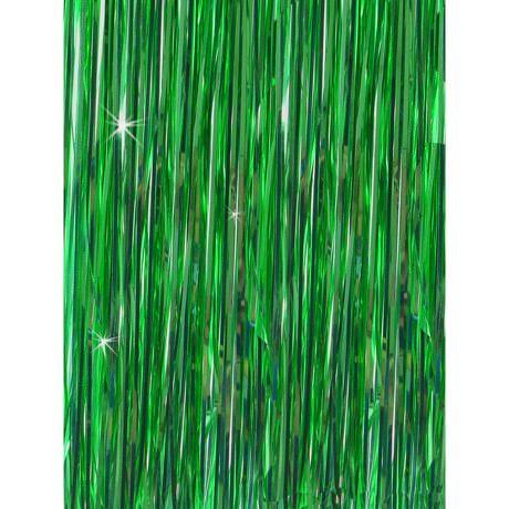 Lametta Vorhang Dekoration Party Feier Fasching Karneval - grün