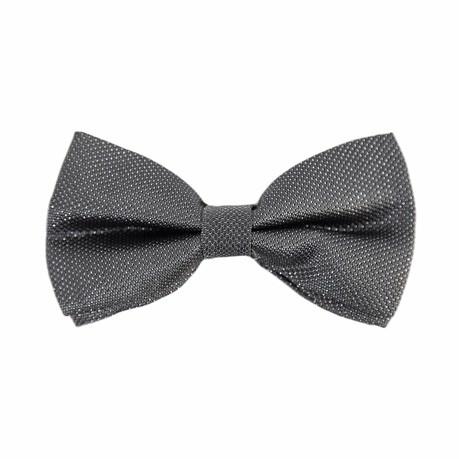 Fliege Schleife gepunktet glitzernd Hochzeit Anzug Smoking - dunkelgrau