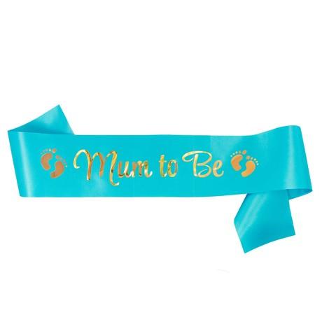 Schärpe Mum To Be Baby Shower Party Junge Schwangerschaft - blau