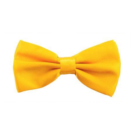 Kinder Fliege Schleife verstellbar Hochzeit Anzug Smoking - gelb