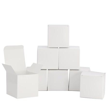 8 Pappschachteln für DIY Adventskalender Advent Kisten Boxen - weiß