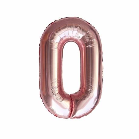 1x Folien Luftballon mit Zahl 0 Geburtstag Jubiläum Party Deko Ballon