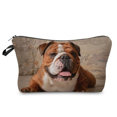 Englische Bulldogge Kosmetiktasche Kulturbeutel Beutel Federmappe