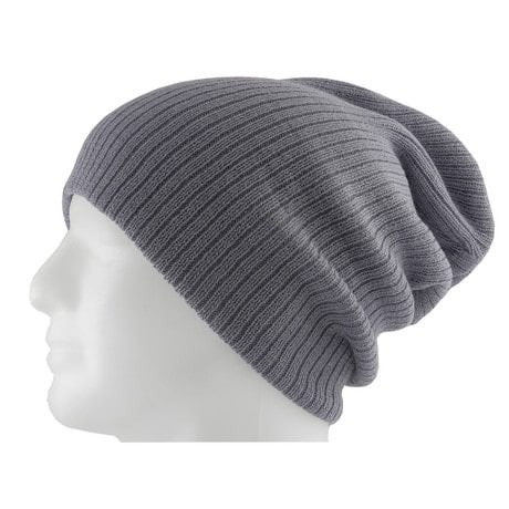 Long Beanie Mütze XXL Damen Herren Kinder Mützen Winter - grey