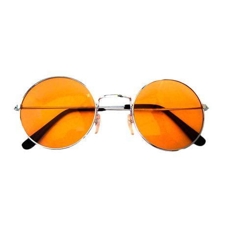 John Lennon Hippie Brille Sonnenbrille Herren Damen 60er 70er - orange