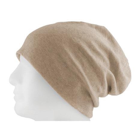 Long Beanie XXL Mütze Slouch Damen Herren Kinder Mütze - beige sand