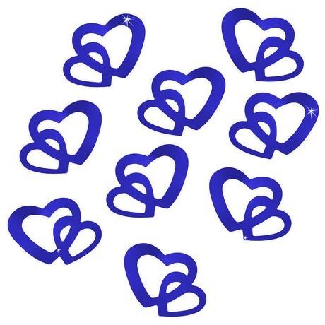 Herz Konfetti Tischdeko Hochzeitsdeko Liebe Romantik - königsblau