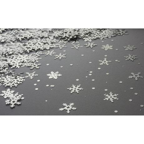 Konfetti Schnee Flocken Streuteile Winter 70g - silber