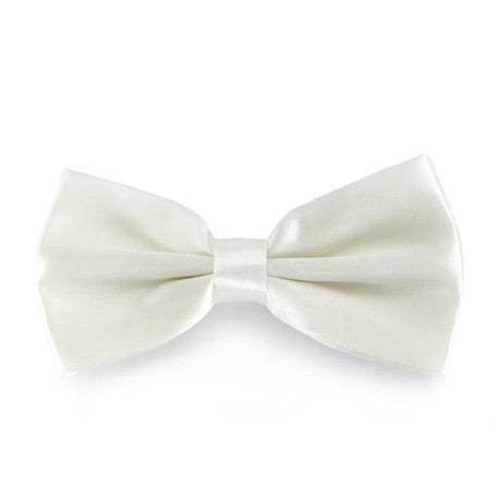 Kinder Fliege Schleife verstellbar Hochzeit Anzug Smoking - creme