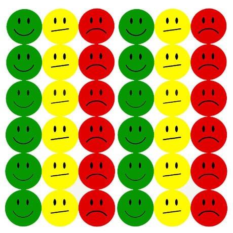 180 Smiley Sticker Set Aufkleber Emoji lächeln Face - grün gelb rot