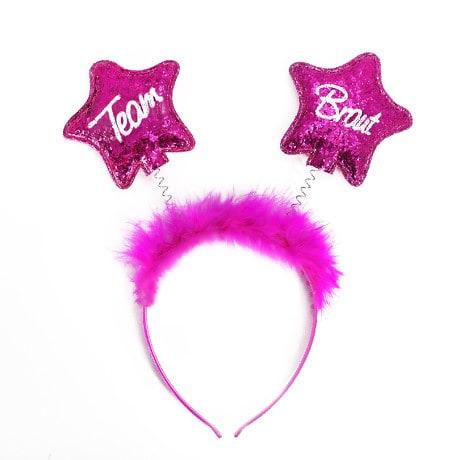 Haarreif Haarreifen Team Braut JGA Junggesellinnenabschied pink