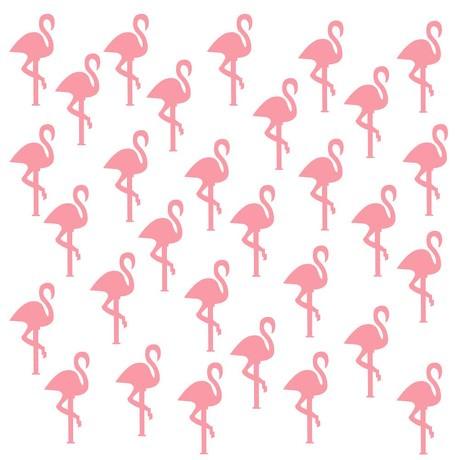 30 Flamingo Wand Sticker Wandaufkleber Wandtattoo Wanddeko Basteln rosa