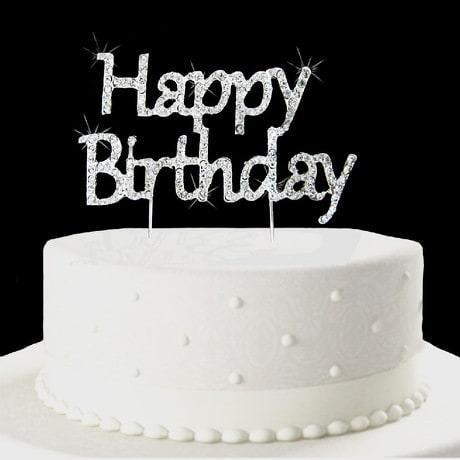 Torten Topper Kuchen Aufsatz Happy Birthday Geburtstag - Strassteine