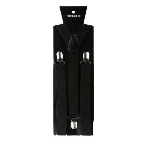 Hosenträger Unisex verstellbar Y -Form - schwarz