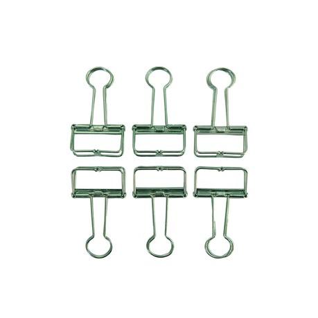 6 Foldback Klammern Klemmen Papierklammern Vielzweckklemmen - grün