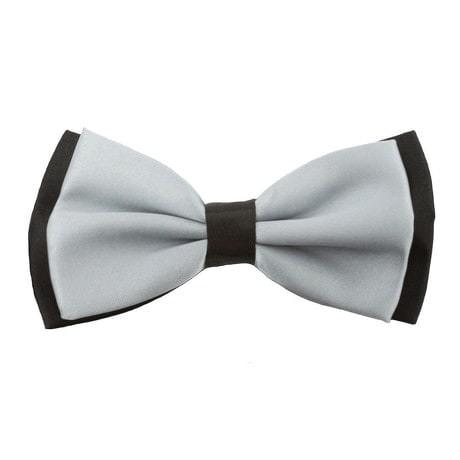 Fliege Schleife Hochzeit Anzug Smoking - schwarz-grau