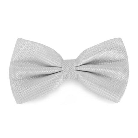 Fliege Schleife kariert Hochzeit Anzug Smoking - weiß