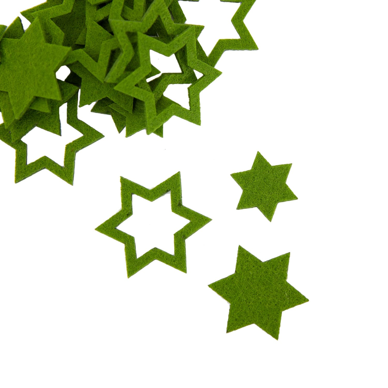 24 Filz Sterne Weihnachtsdeko Tischdeko Weihnachten 3 Motive Grun