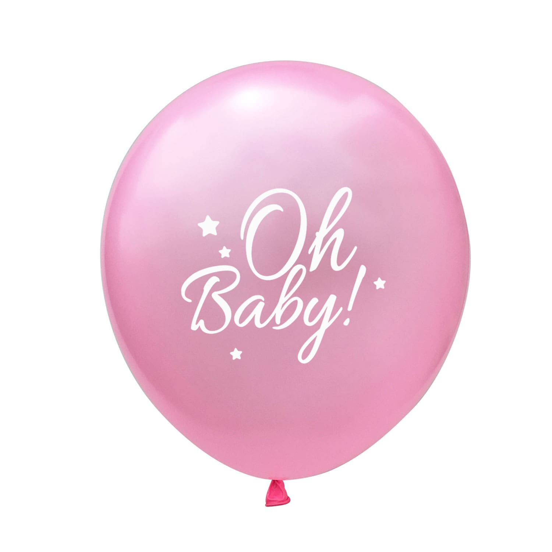 "Party Mädchen transparent//rosa für Babyshower 6 Konfetti-Ballons /""It/'s a Girl/"""