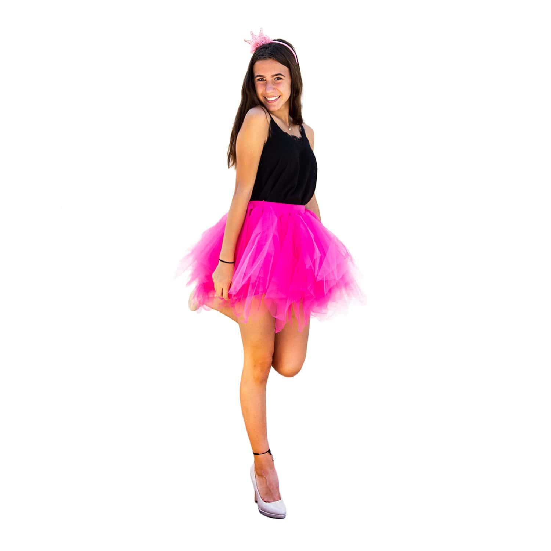 huge discount 269d8 eb0b7 Tutu Tütü Damen Rock pink Tüllrock Unterrock Kostüm Accessoire Fasching  Karneval 80 cm - 144 cm