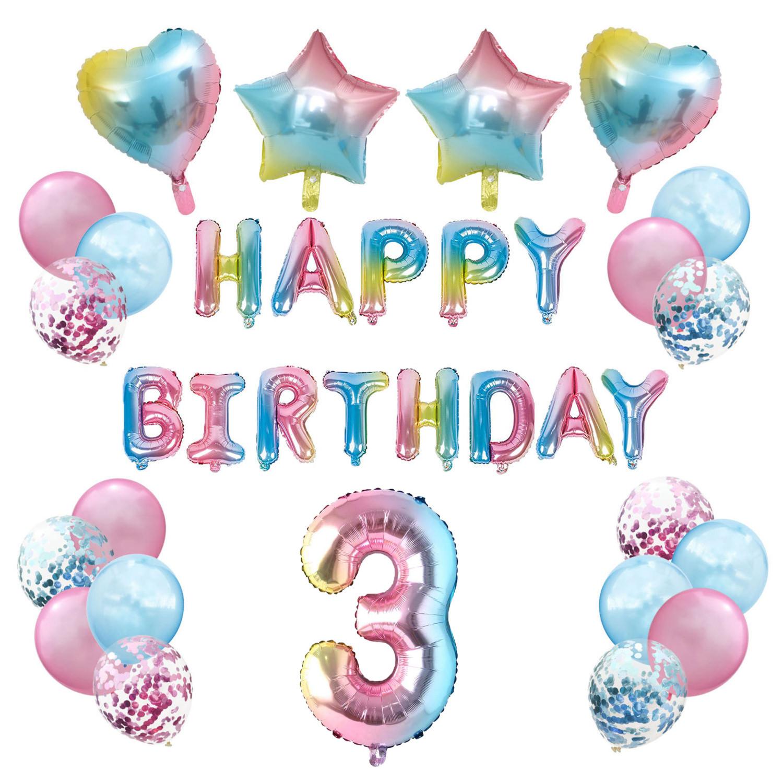 8. Geburtstag Party Deko Set   Happy Birthday + Zahl 8 Ballon + Konfetti  Luftballons + Herzen uvm.