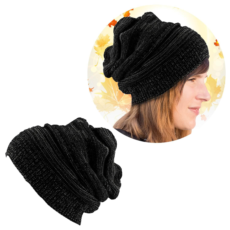 eee65478899 Long Beanie Mütze XXL Damen Herren Kinder Winter Mützen - black-white