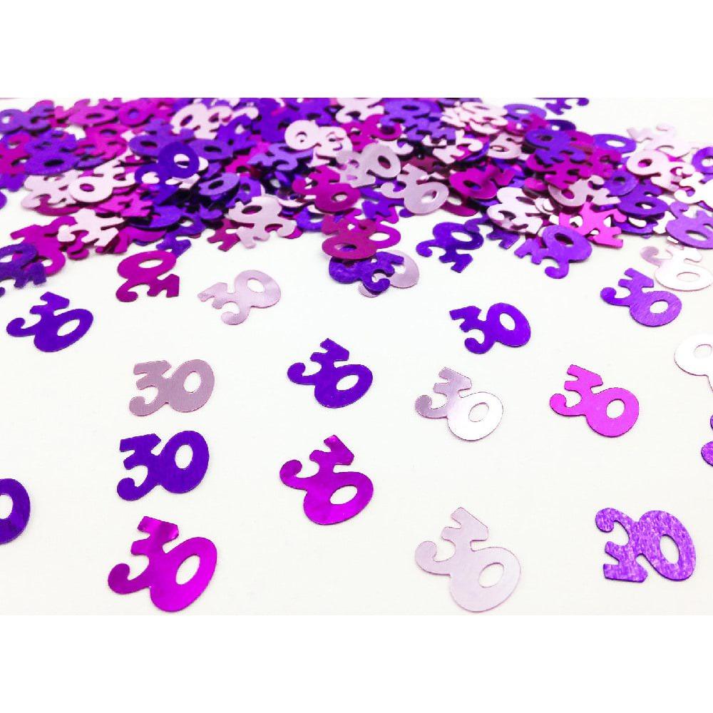 konfetti 30 geburtstag streudeko streuteile deko 14g pink. Black Bedroom Furniture Sets. Home Design Ideas