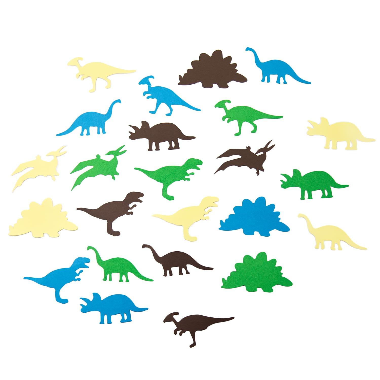 Dino Konfetti 24 Stk Bunt Kinder Geburtstag Dinosaurier Tisch Deko