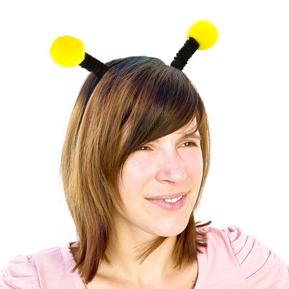 Haarreifen Biene Wackel Bommeln Bienenkostum Fasching Karneval Party