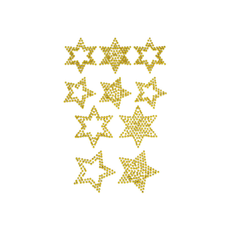 10 Sterne Sticker Strass Steine Fur Weihnachten Weihnachtsdeko Gold