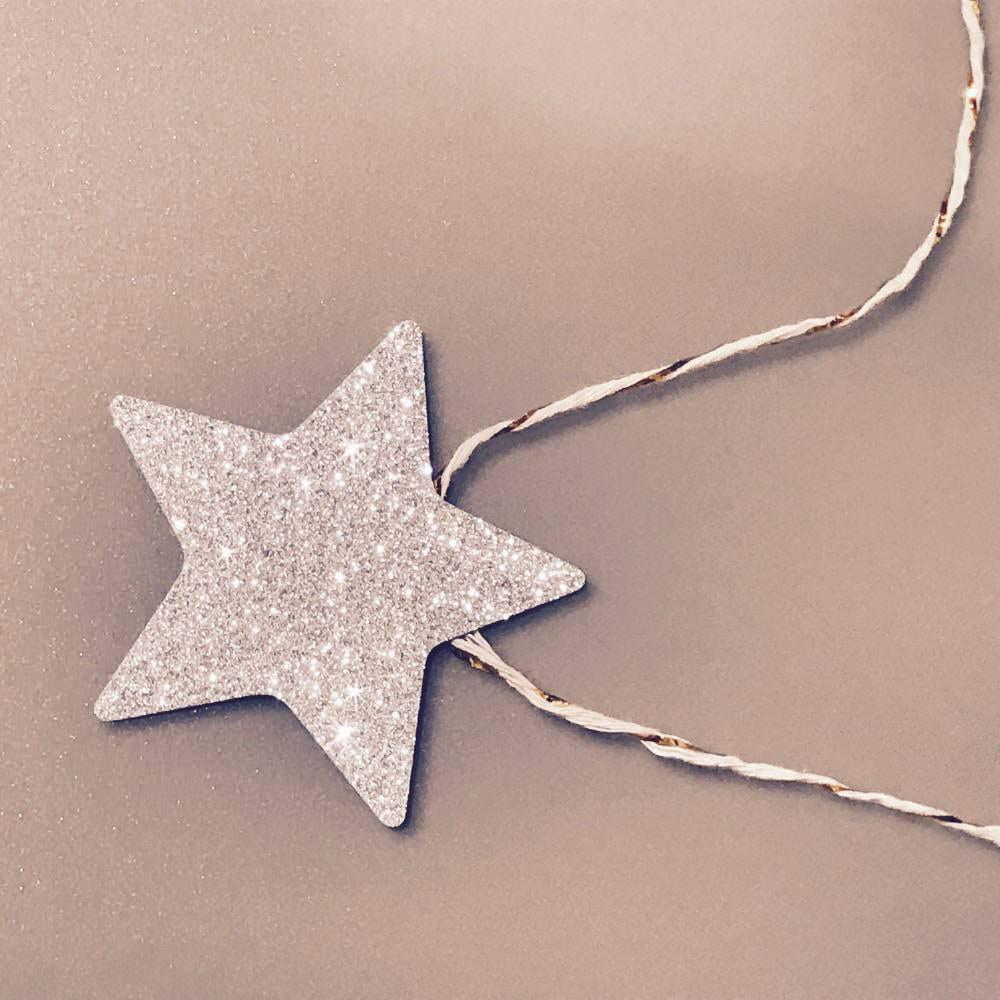 deckenh nger girlande sterne weihnachten weihnachts deko silber gold. Black Bedroom Furniture Sets. Home Design Ideas