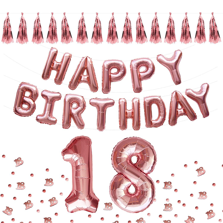 18 Geburtstag Party Deko Set Happy Birthday Ballons Girlanden