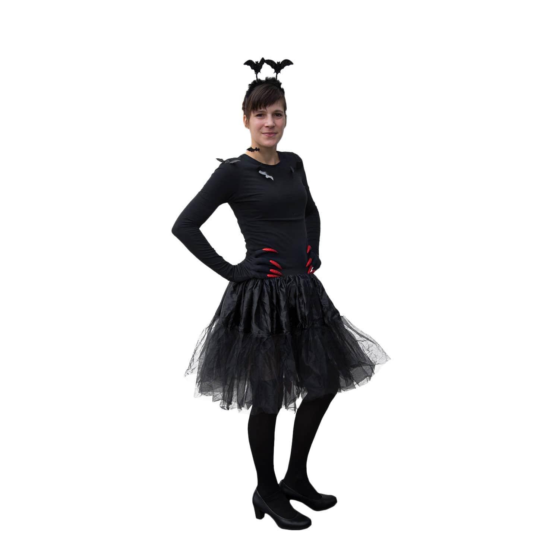 Fledermaus Haarreifen Horror Halloween Karneval Fasching Kostum