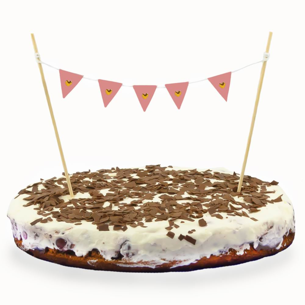 Torten Topper Kuchen Aufsatz Torten Wimpel Kette Kuchen Deko Rosa