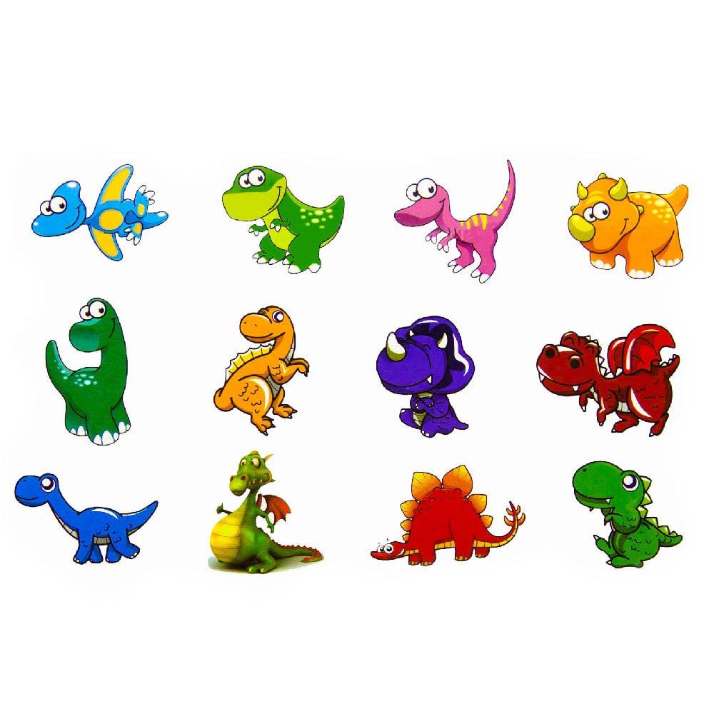 temporäre klebetattoos kinder dinosaurier tattoo set