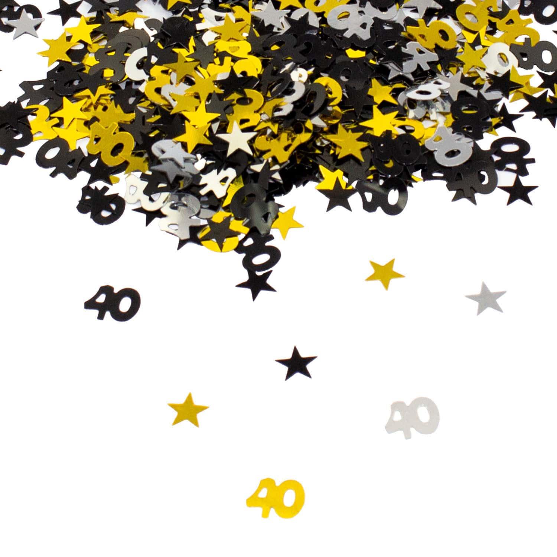 Konfetti 40 Geburtstag Jubilaum Streudeko Streuteile Tisch Deko 500 Stk