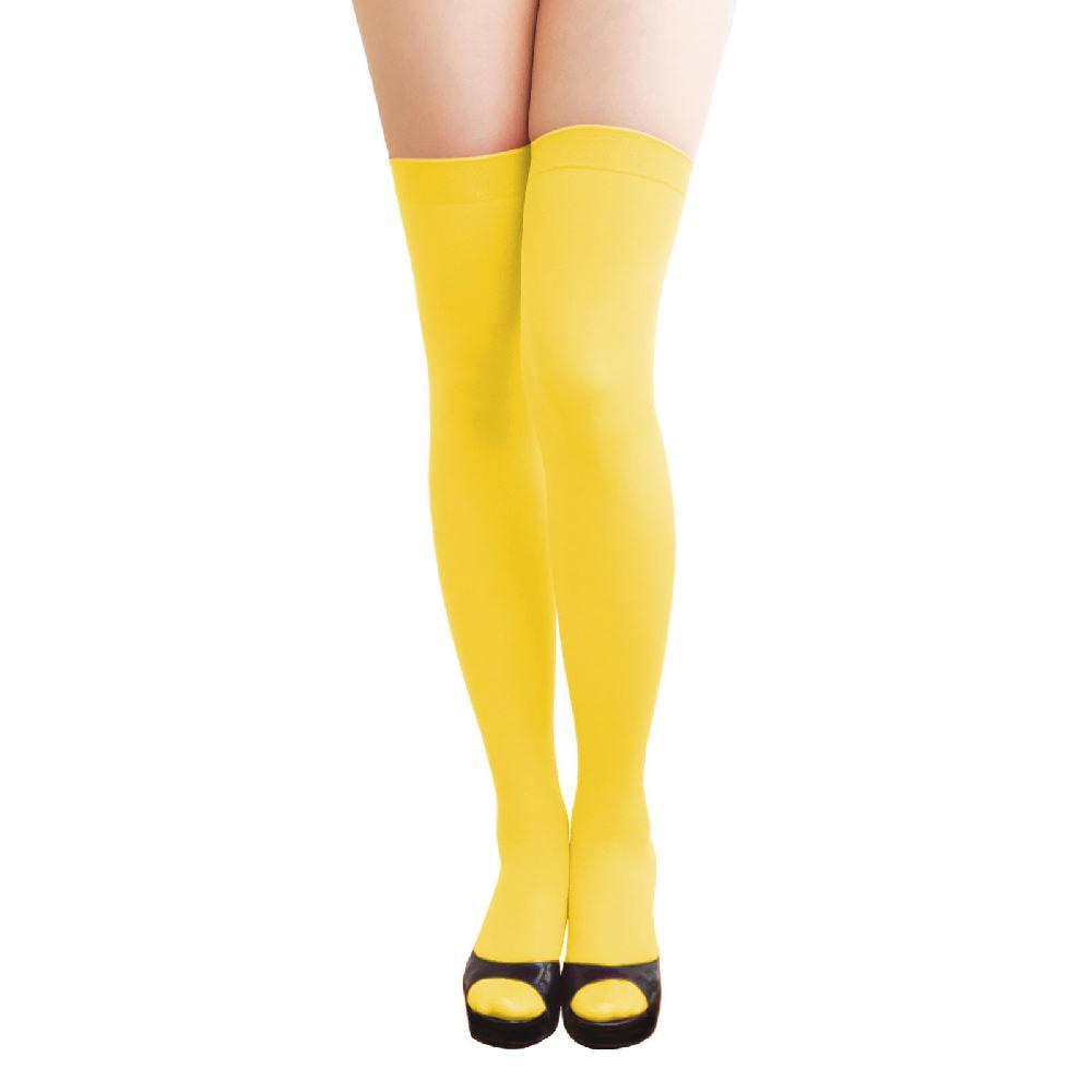 3c1b9c50ff534 Overknee Strümpfe Sexy Strumpfhose halterlos Karneval Party - gelb