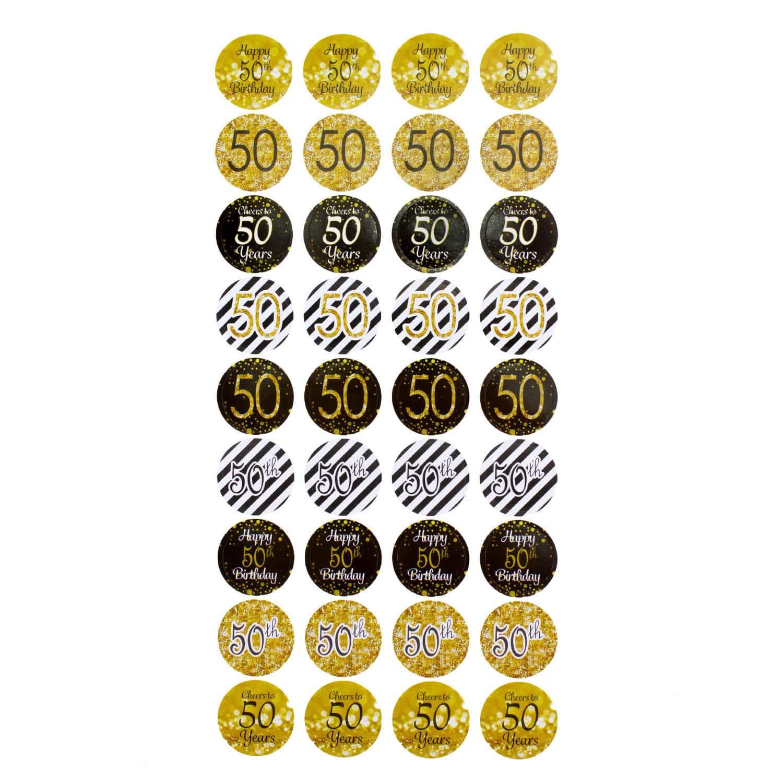 50 Geburtstag Jubilaum 108 Stk Sticker Goldene Hochzeit Aufkleber Deko