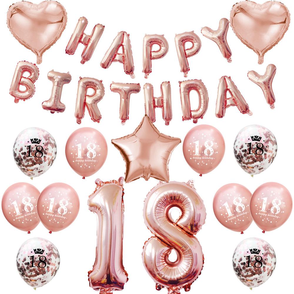 8. Geburtstag Party Deko Set   Happy Birthday + Zahl 8 Ballons + ...