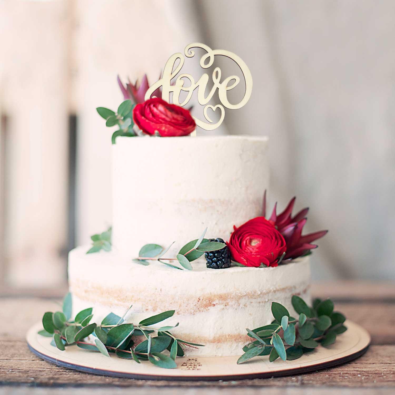 Torten Kuchen Topper Aufsatz Love Holz Deko Fur Hochzeit Jga Dekoration