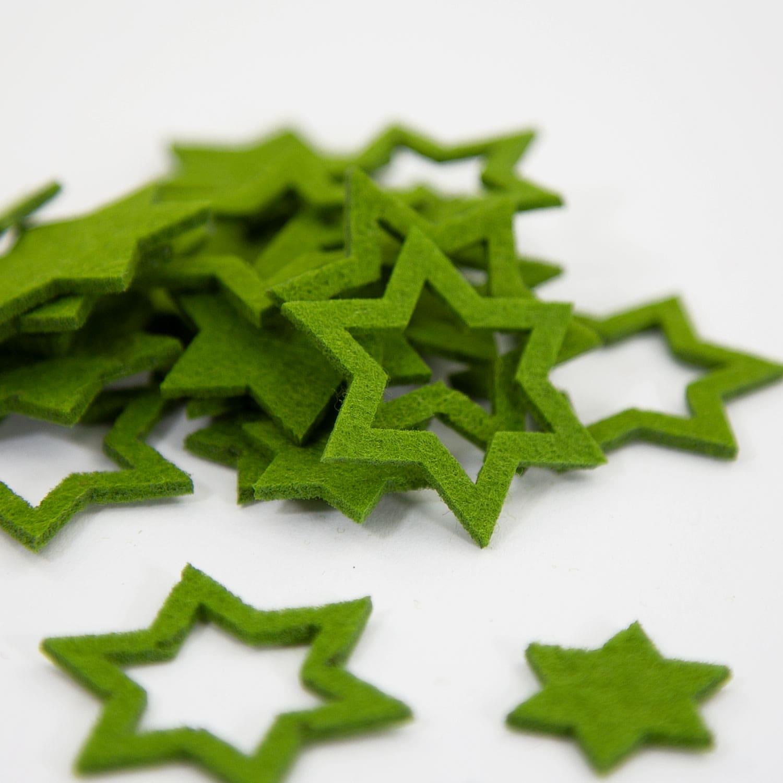 Weihnachtsdeko In Grün.24 Filz Sterne Weihnachtsdeko Tischdeko Weihnachten 3 Motive Grün