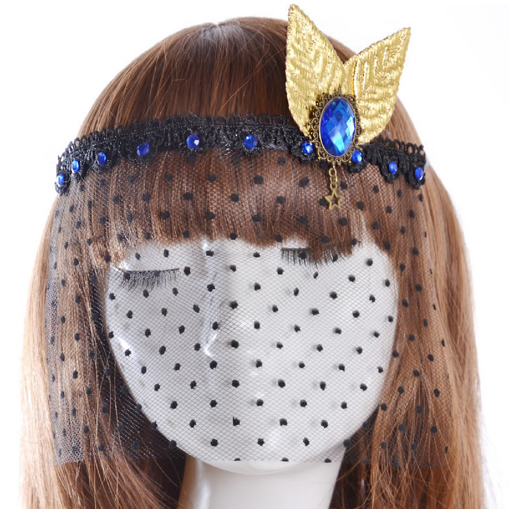 gothic collier augen maske haarband haarschmuck fascinator gold. Black Bedroom Furniture Sets. Home Design Ideas
