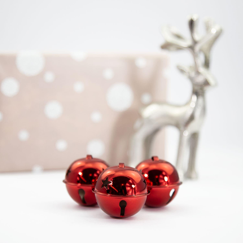 Weihnachtsdeko Klingel.12 Weihnachtsglöckchen Tischdeko Weihnachtsbaum Weihnachtsdeko Rot