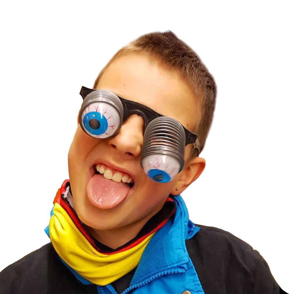 Gagbrille Augenbrille Pop Out Kinder Brille Fasching Karneval Halloween