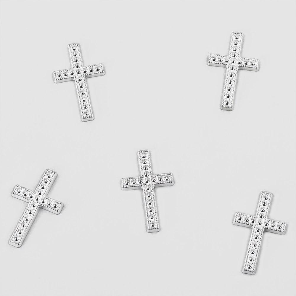 25 Deko Kreuze Streu Tischdeko Konfirmation Taufe Kommunion Silber