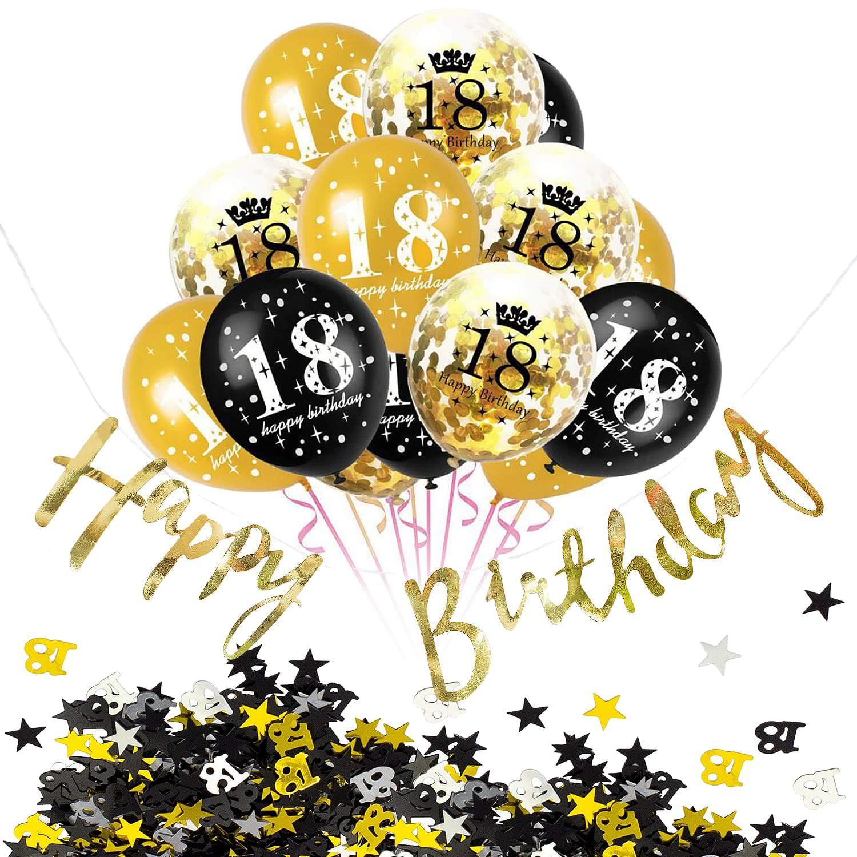 18 Geburtstag Party Feier Deko Set Konfetti Ballons Girlande