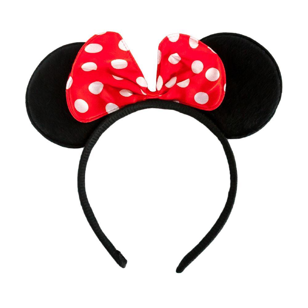 Haarreif Haarreifen Maus Mouse Ohren Schleife Fasching Karneval Rot