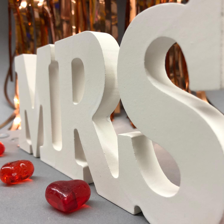 Mr mrs deko buchstaben holzbuchstaben hochzeit dekoration holz - Buchstaben holz deko ...