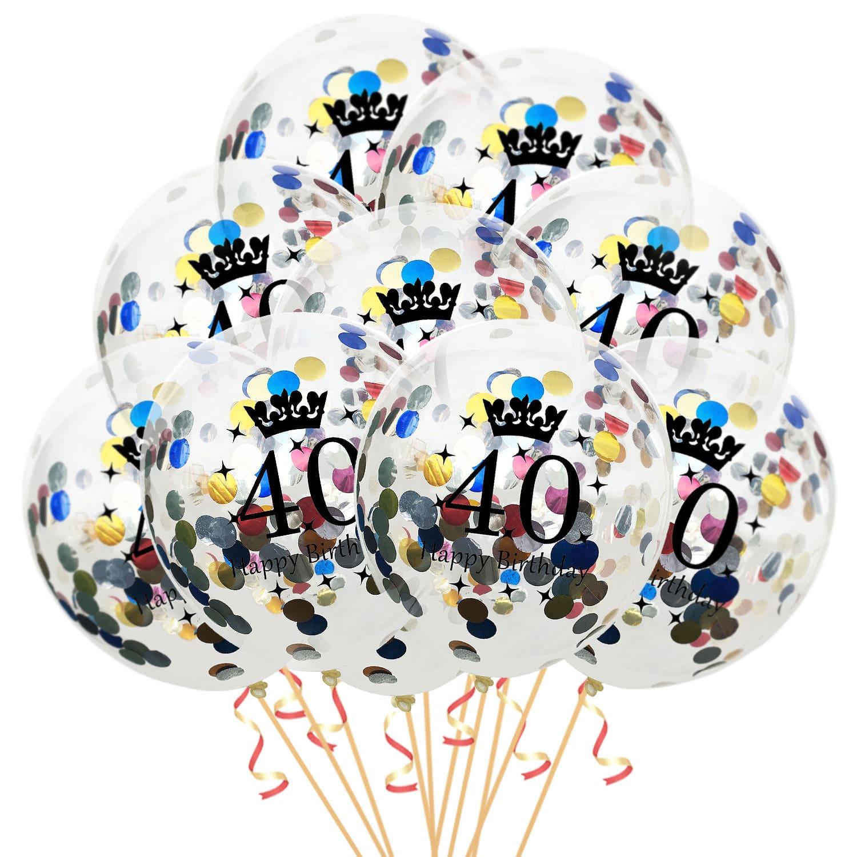 40 Stück Konfetti Ballons Helium Ballon Metallic Hochzeit Geburtstag sparty